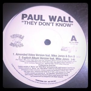 """🎶Paul Wall """"they don't know"""" record 🎶"""